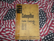 Caterpillar 27 25 24 23 Cable Controls Reference Manual