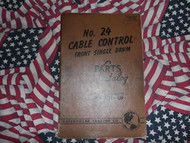Caterpillar 24 Cable Control Parts Catalog Single Drum