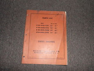 Allis Chalmers Diesel Engine 8 DA DC Parts Catalog