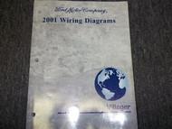 2001 Mercury Villager Van Wiring Electrical Shop Manual