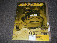 2000 Ski Doo SNOWMOBILE SKANDIC WIDE TRACK LC SUPER WIDE PARTS CATALOG Manual