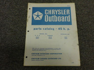 1966 Chrysler Outboard 45 HP 45HP Parts Catalog Manual Book OEM