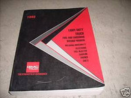 1993 GMC Light Duty Truck Fuel & Emissions Driveability Shop Service Manual OEM