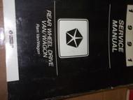 1991 Dodge Ram Van Wagon RWD Service Shop Repair Workshop Manual OEM RWD Mopar