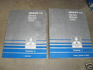 1989 MITSUBISHI Sigma V6 Service Shop Manual FACTORY OEM BOOK 89 SET 2VOL WORN