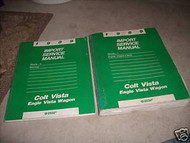 1989 Dodge COLT VISTA Eagle VISTA WAGON Shop Repair Service Manual SET