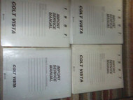 1987 DODGE Colt Vista Service Shop Repair Manual Set FACTORY OEM 87 W LOTS