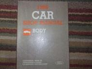 1986 Mercury Cougar Service Shop Repair Body Manual