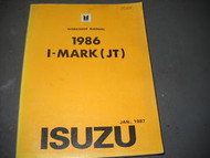 1986 Isuzu I-Mark Mark Service Repair Shop Manual FACTORY OEM BOOK 86