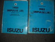 1985 Isuzu Impulse Service Repair Shop Manual Set FACTORY OEM BOOK 85