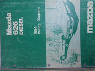 1984 Mazda 626 Diesel Electrical Wiring Diagram Shop Manual FACTORY OEM BOOK 84