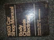 1983 Mercury Grand Marquis BODY CHASSIS ELECTRICAL Service Shop Repair Manual