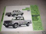 1983 Ford Ranger Electrical Wiring Diagram Service Shop Manual OEM 83 EWD