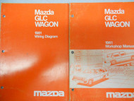 1981 Mazda GLC Wagon Service Repair Shop Manual SET FACTORY OEM RARE BOOKS 81