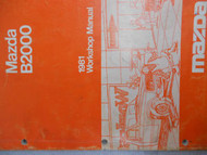 1981 Mazda B2000 B 2000 Service Repair Shop Manual Factory OEM RARE BOOK 81 RARE