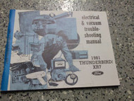 1981 Ford Thunderbird Electrical WIRING Service Shop Repair Manual 81 OEM EWD