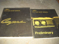1973 FORD MERCURY CAPRI Service Shop Repair Manual SET W PRELIMINARY BOOK OEM