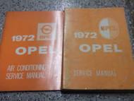1972 OPEL GT & 1900 Service Shop Repair Manual SET BOOK Factory OEM