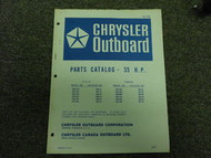 1971 Chrysler Outboard 35 HP Parts Catalog