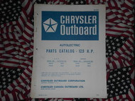 1971 Chrysler Outboard 12.9 HP Parts Catalog 124 125 HC