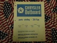 1969 Chrysler Outboard 3.6 HP Parts Catalog 32 33 HA H