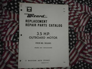 1968 Wizard Outboard 3.5 HP Part Catalog COC6503A86