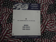 1968 Sea King Wards 35 HP Part Catalog 299351 299361