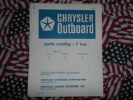 1968 Chrysler Outboard 7 HP Parts Catalog