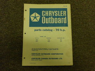 1968 Chrysler Outboard 70 HP Parts Catalog