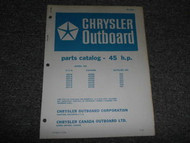 1968 Chrysler Outboard 45 HP Parts Catalog