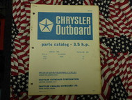 1968 Chrysler Outboard 3.5 HP Parts Catalog 3018 3118