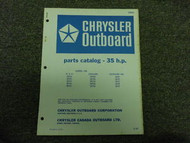 1967 Chrysler Outboard 35 HP Parts Catalog