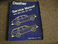1974 1975 1976 1977 1978 VW Dasher Service Repair Shop Manual FACTORY BOOK 74 78