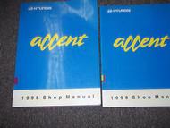 1998 HYUNDAI ACCENT Service Repair Shop Manual Set FACTORY OEM BOOK 98