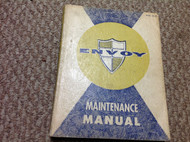1959 1960 GMC ENVOY Truck Service Shop Maintenance Repair Manual OEM CDN