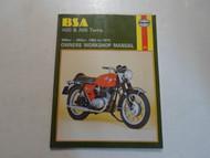 1962 1973 Haynes BSA A50 & A65 499cc.-654cc. Twins Owners Workshop Manualx