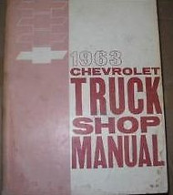 1963 Chevy Chevrolet Pickup Truck Shop Repair Service Workshop Manual Brand New