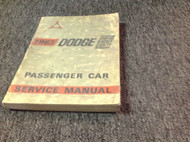 1963 Dodge Custom Eight Eighty 88 Service Shop Repair Workshop Manual OEM