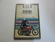1964 1972 Clymer Suzuki 125 500cc Twins Service Repair Handbook STAINED WORN OEM