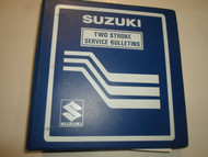 1970s 1980s Suzuki Two Stroke 2 Stroke Service Bulletin Index Manual STAINED OEM