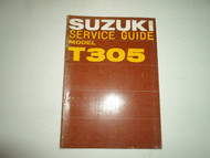 1971 Suzuki Motorcycle Model T305 Service Repair Shop Manual MINOR FADING WEAR