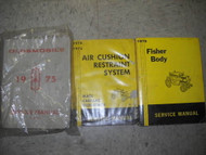 1975 Oldsmobile Olds Service Shop Repair Manual Set OEM W Fisher Body
