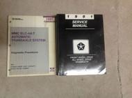 1991 Chrysler Dodge FWD All Wheel Driv Van Wagon Service Shop Repair Manual SET