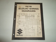 1978 Suzuki Motorcycle C Models Wiring Diagrams Manual STAINED 2ND EDITION OEM