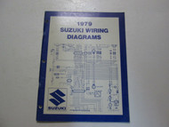 1979 Suzuki Motorcycle N Models Wiring Diagrams Manual WORN FADED FACTORY OEM 79