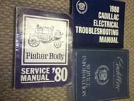 1980 Cadillac BROUGHAM DEVILLE ELDORADO FLEETWOOD SEVILLE Service Manual Set