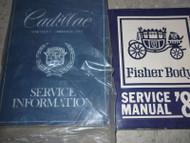 1980 Cadillac BROUGHAM DEVILLE ELDORADO SEVILLE Service Shop Repair Manual W BOD
