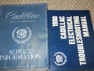 1980 Cadillac BROUGHAM DEVILLE ELDORADO SEVILLE Service Shop Repair Manual W EW