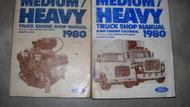 1980 Ford F B C L 600 9000 Medium & Heavy Truck Service Shop Repair Manual Set