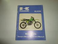1980 Kawasaki KLX250 Owners Manual & Service Manual FADED WORN DEAL OEM